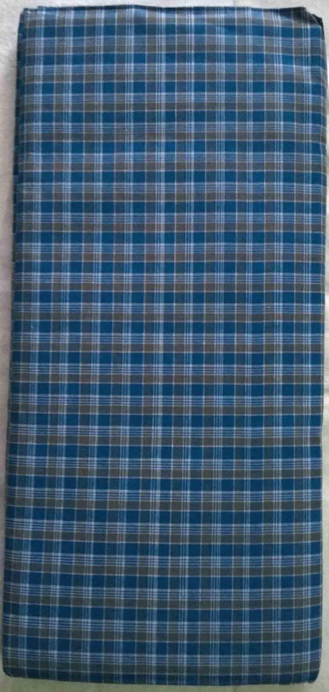 check small. Blue Color Small Check Soft Lungi S
