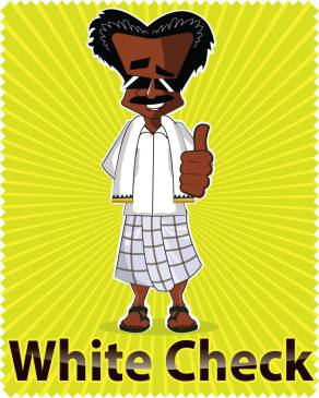 illustration character in White Check Lungi